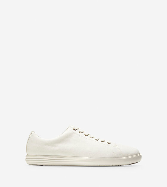 ae77e41c36 Men's Grand Crosscourt Sneakers in Ivory Canvas | Cole Haan