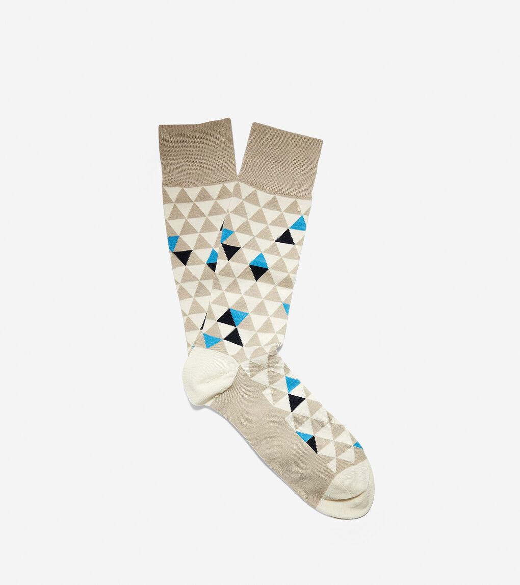 Mens Geometric Triangle Crew Socks