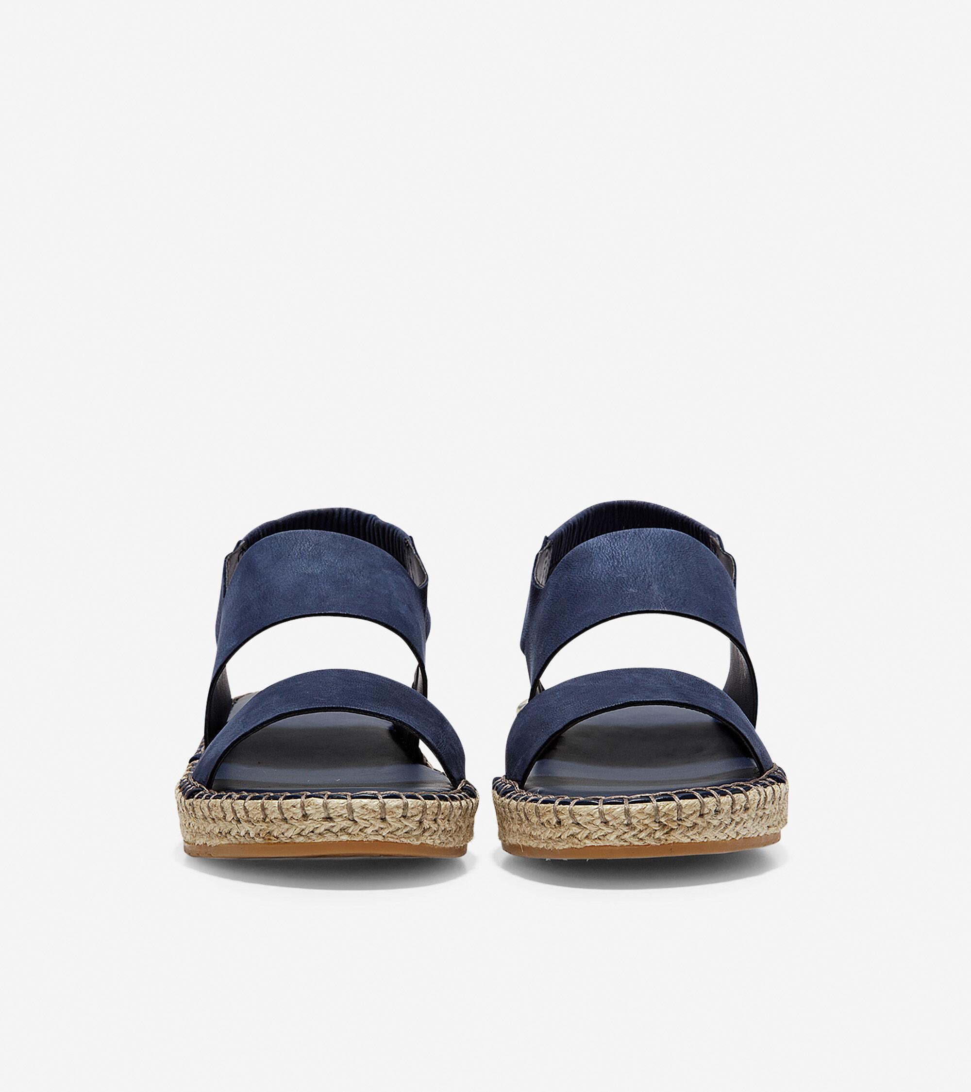 0c6c48b50cd69 Women's Cloudfeel Espadrille Wedges Sandals in Marine Blue | Cole Haan