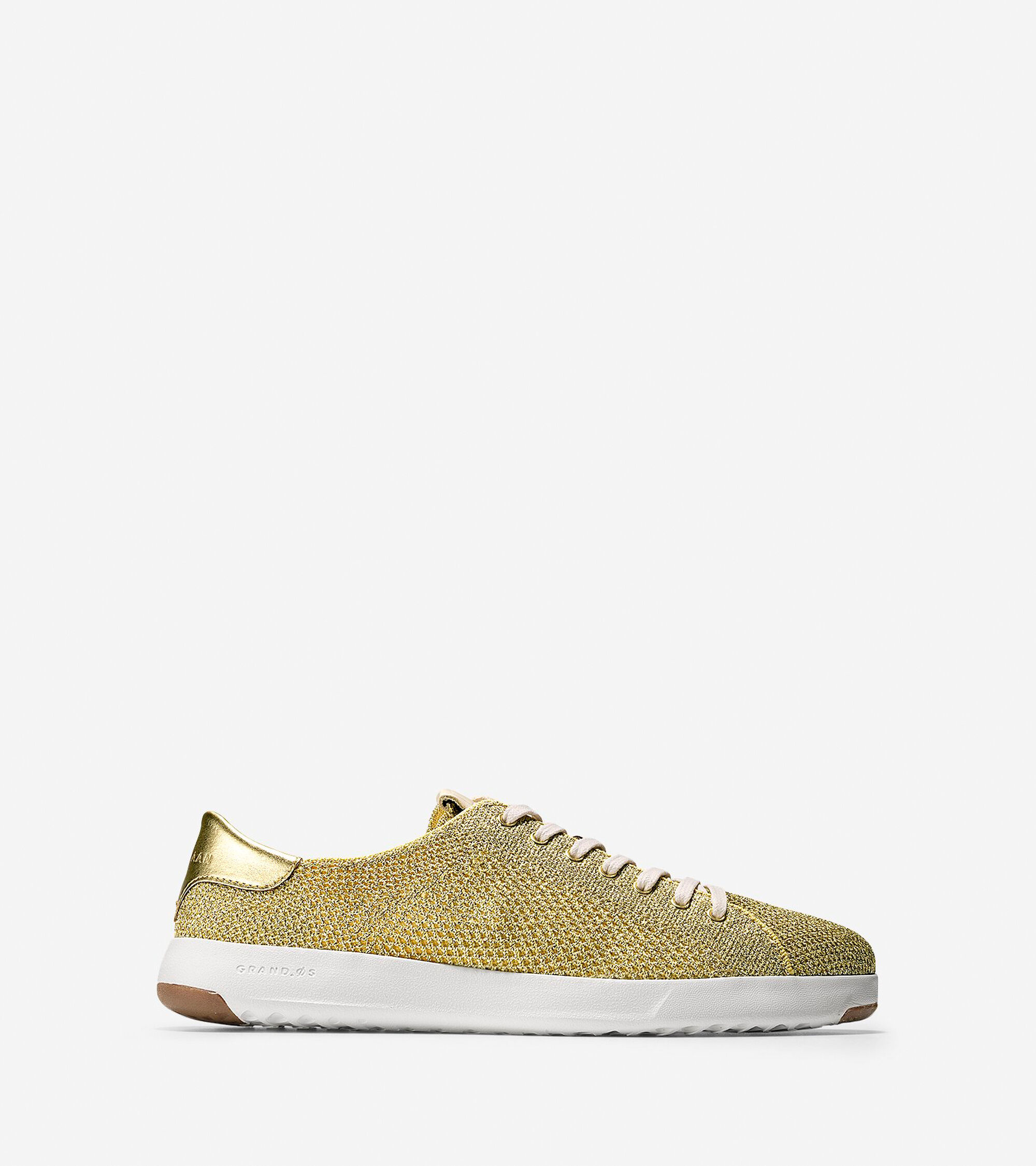 ed0a0619d2ee Women s GrandPro Stitchlite Tennis Sneakers in Metallic Gold