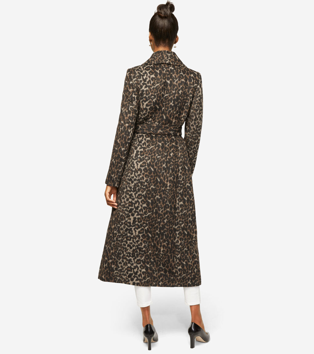 WOMENS Slick Wool Long Wrap Coat