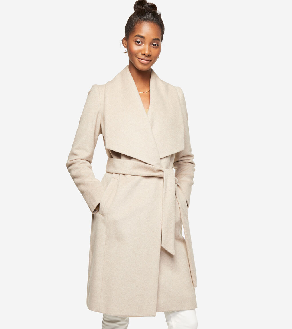 WOMENS Slick Wool Wrap Coat