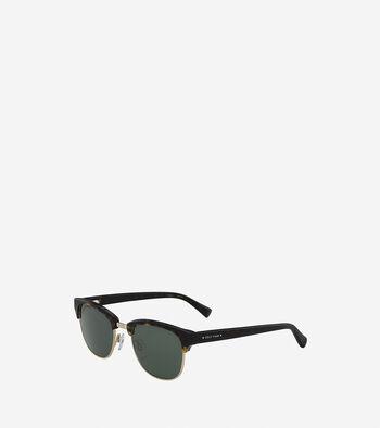 Acetate/Metal Square Sunglasses