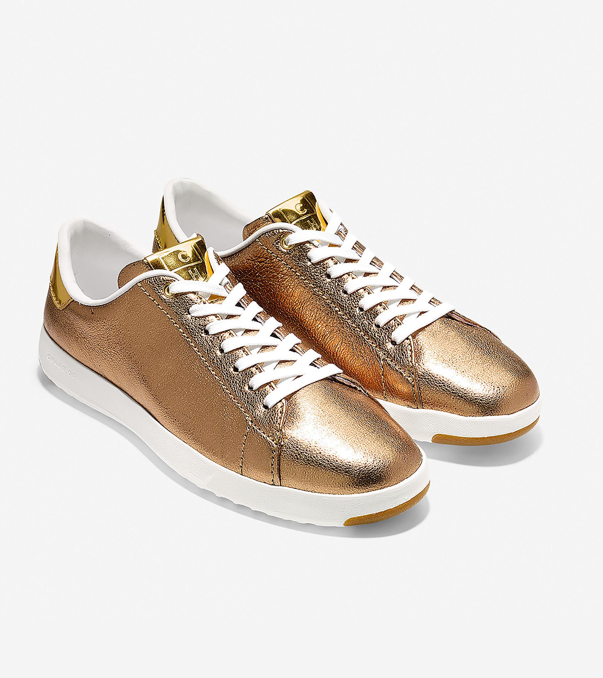 d3b8f302edaa GrandPro Tennis Sneakers in Ruggine Glitter Metallic-Gold