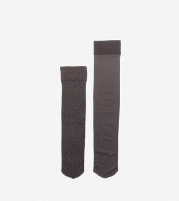 Textured Knee High Socks - 2 Pack
