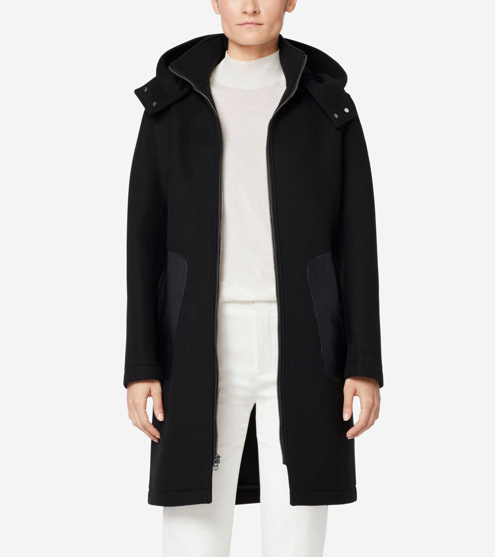 Womens Grand.ØS Neoprene Bonded Wool Jacket