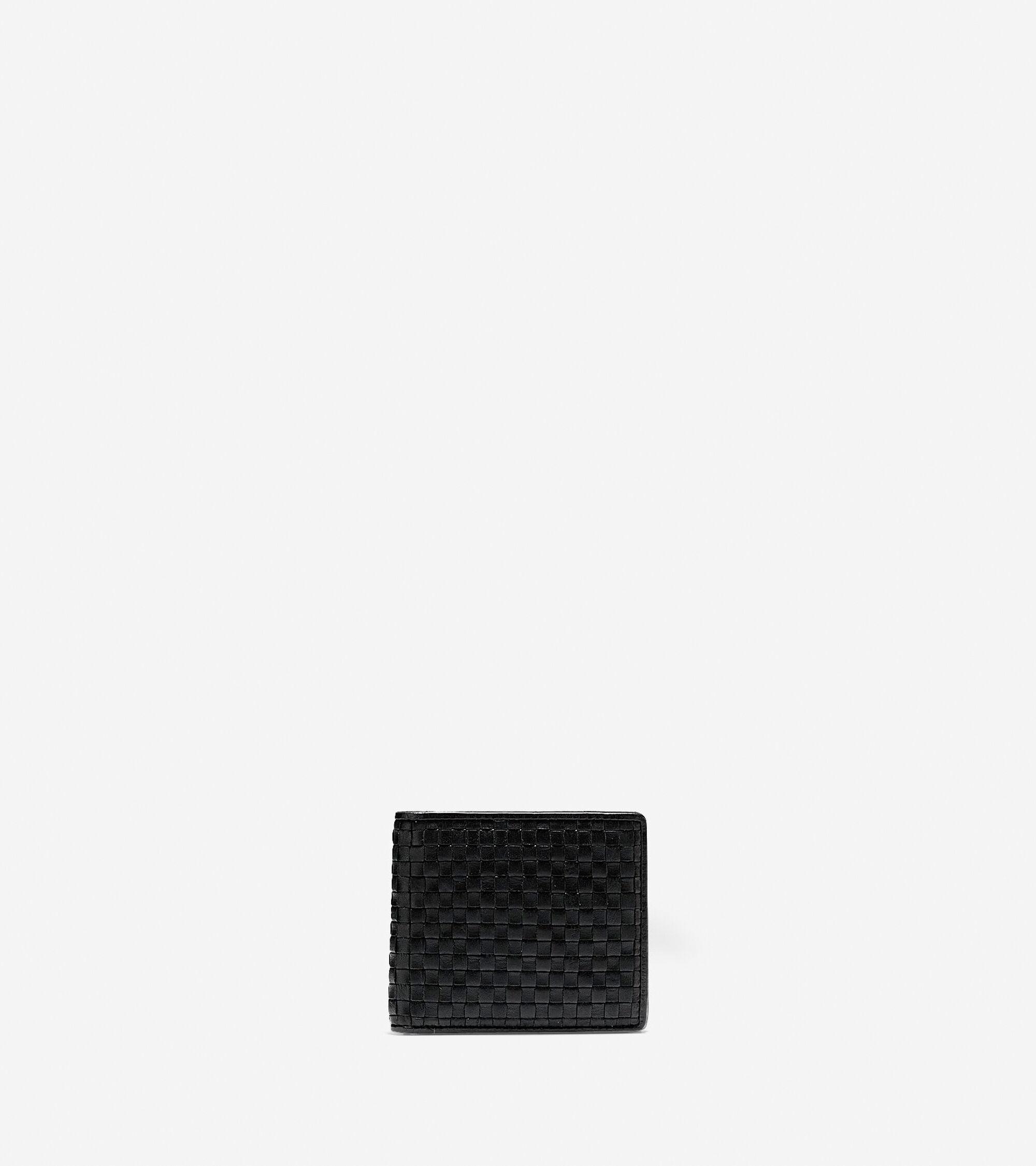 Cole Haan Men's Brayton Weave Bifold Wallet with Coin Pocket