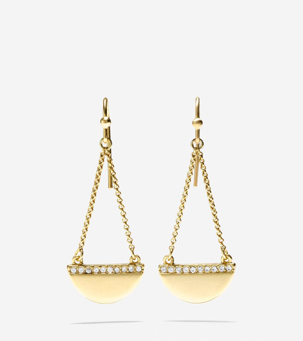 a58209ef9 Women's Madison Avenue Pavé Half-Moon Swarovski Chain Drop Earrings ...