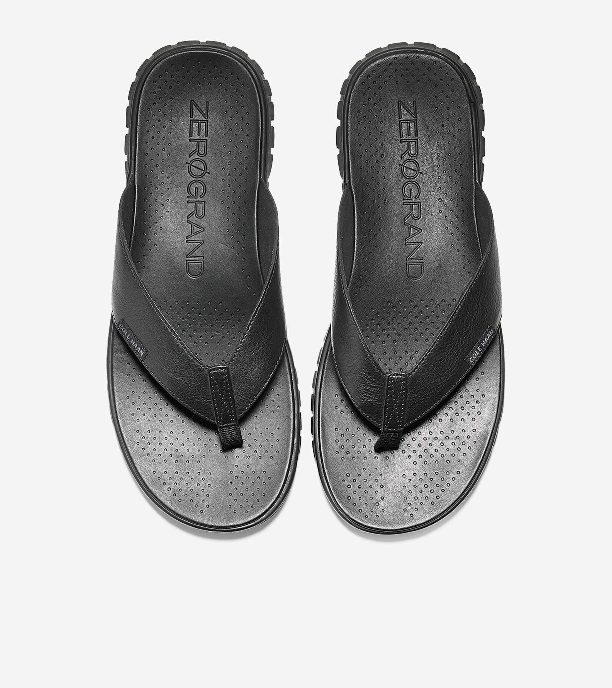 Thong Sandal in Black Leather-black