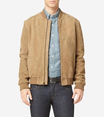 Suede Varsity Jacket