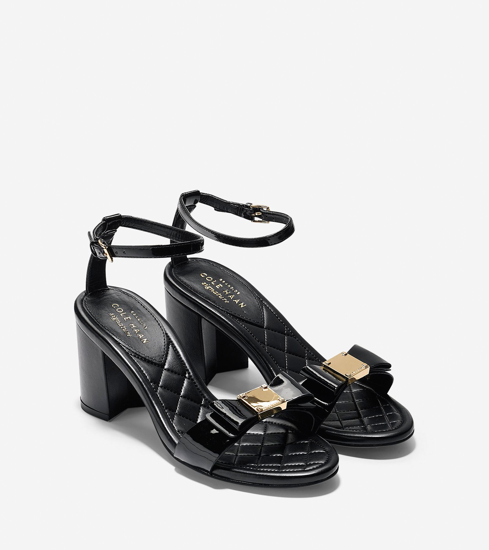68303d6a42d Tali Bow High Sandals (65mm) in Black Patent