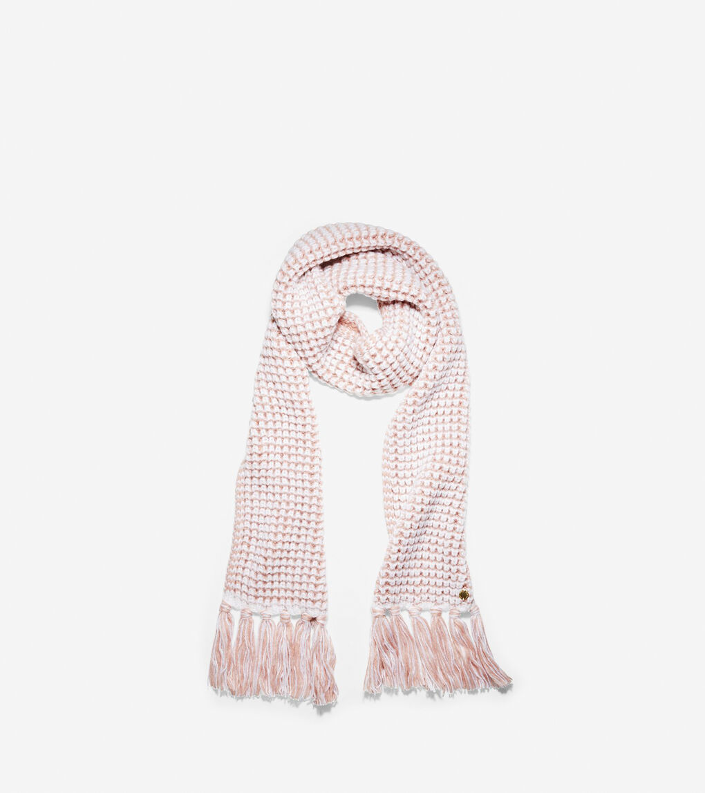 Womens Two Color Thermal Muffler Scarf