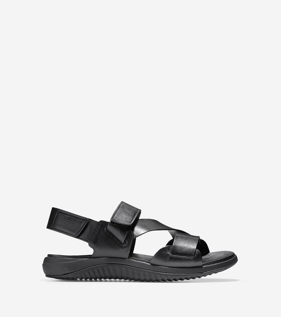 e13324963694 Men s 2.ZEROGRAND Multi Strap Sandals in Black