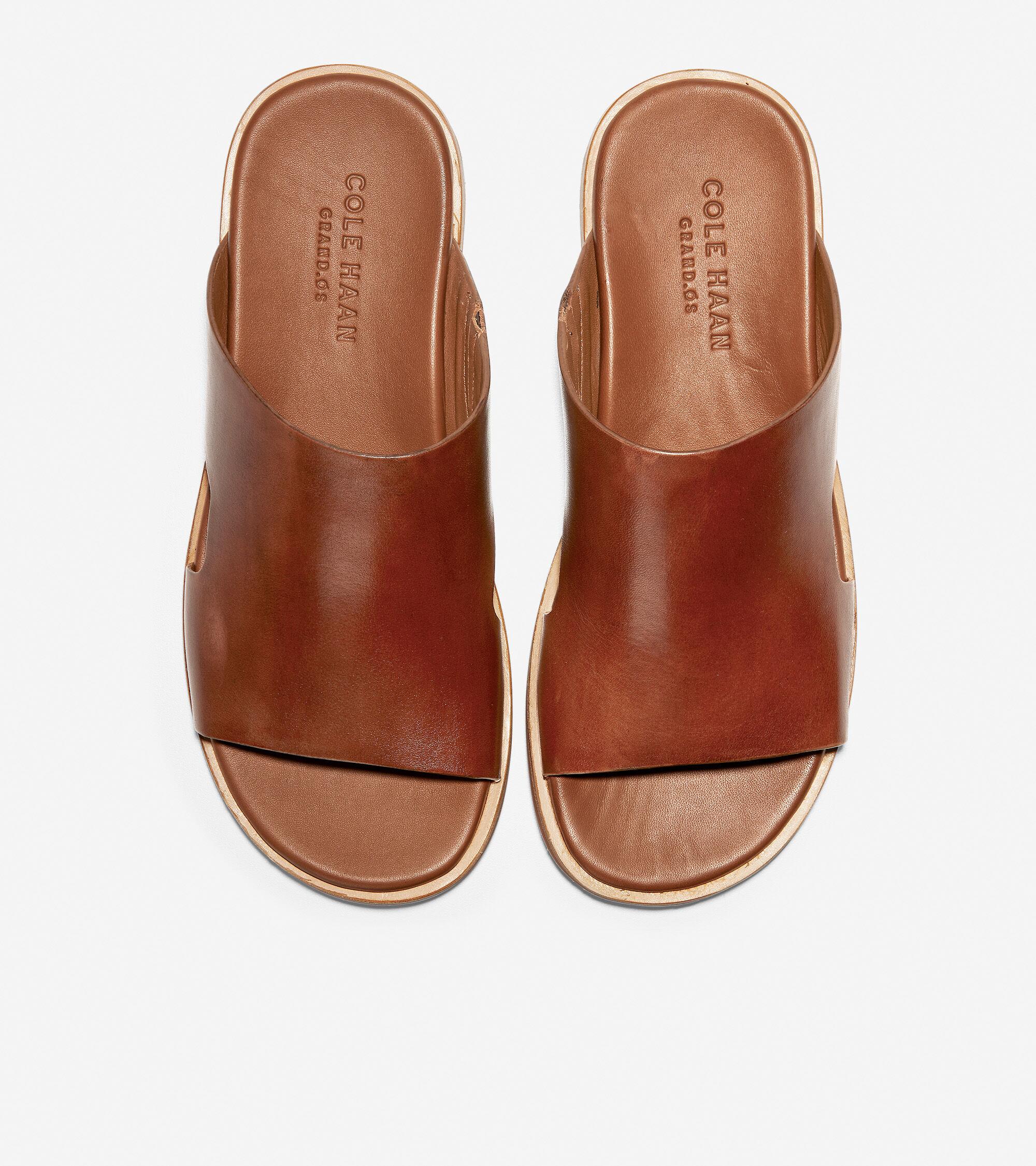 Goldwyn Slide Sandal in British Tan