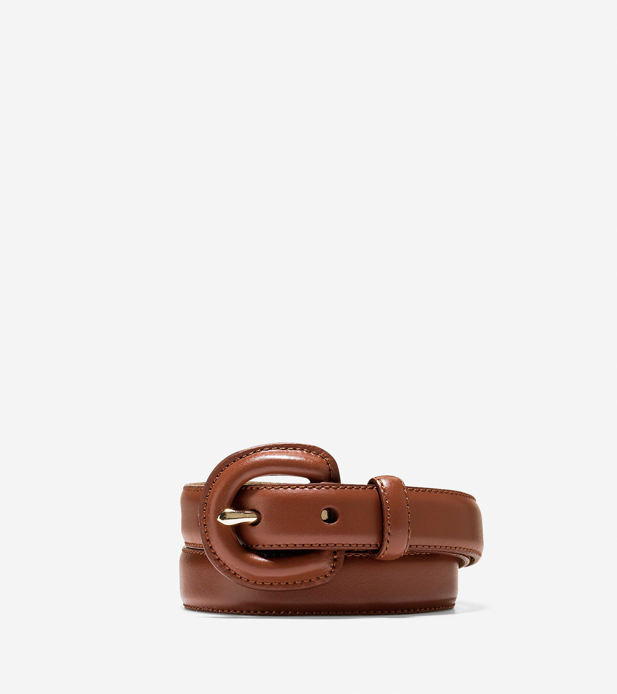 Womens Cole Haan Feather Edge Leather Belt