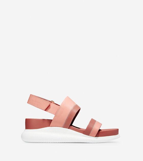 Women S 2 Zerogrand Slide Sandals In Coral Almond Cole Haan