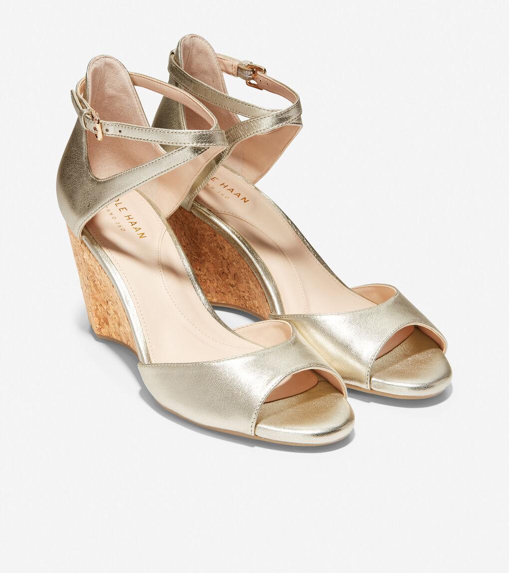 Womens Sadie Open Toe Wedge Sandal (75mm)