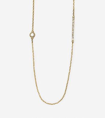 Brilliant Cubic Zirconia Long Station Necklace