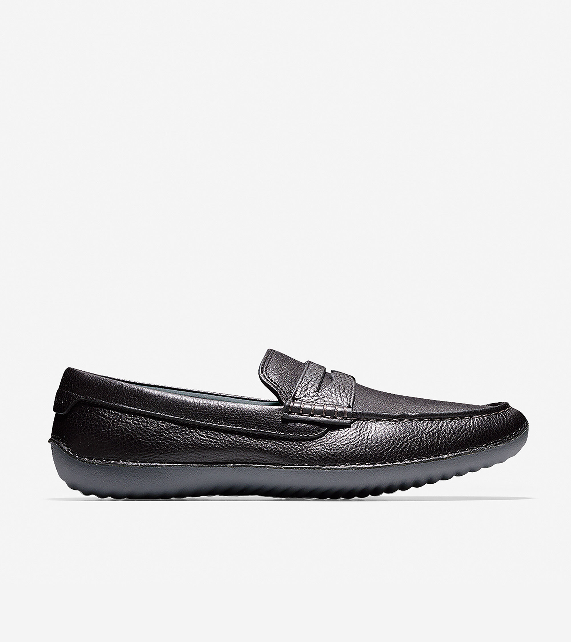 Penny Driving Shoe in Black Leather