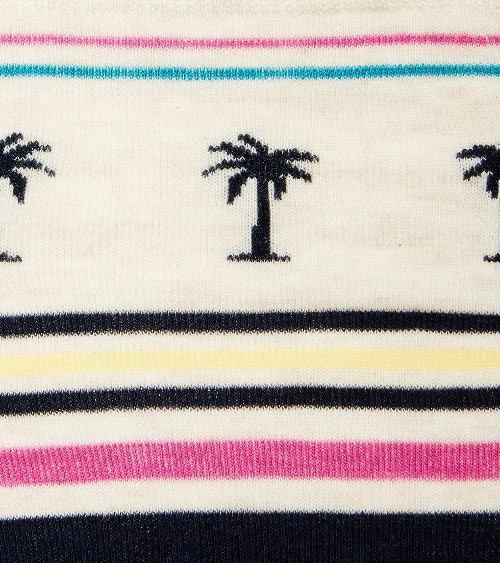 Mens Palm Tree Crew Socks