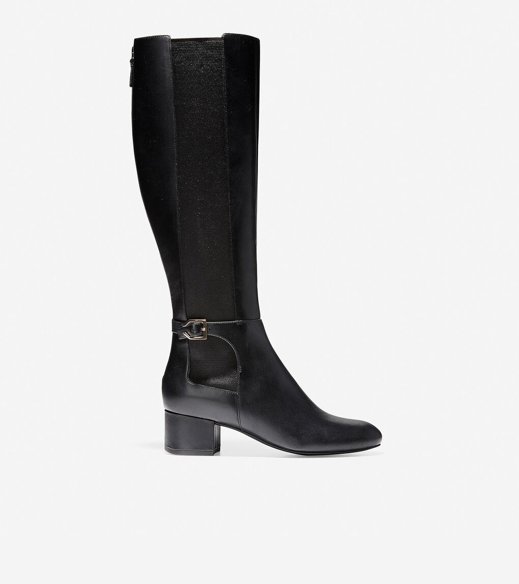 1db3cba06556e Women's Avani Stretch Boot (45mm) in Black Leather | Cole Haan US