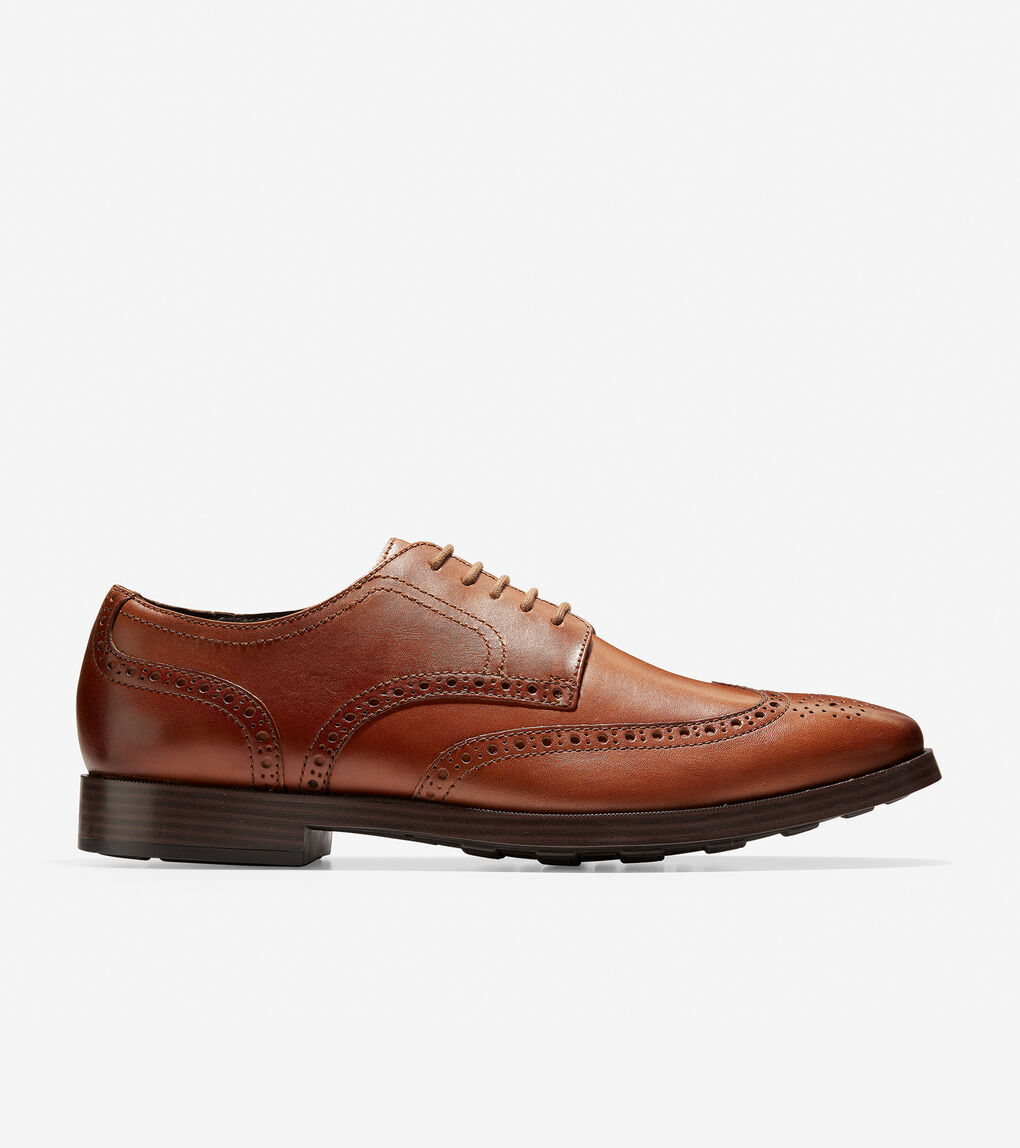 acf655fb4 Men's Jefferson Grand Wingtip Oxford in British Tan | Cole Haan US