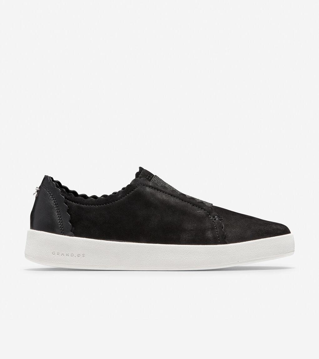Womens GrandPrø Spectator Scalloped Slip-On Sneaker