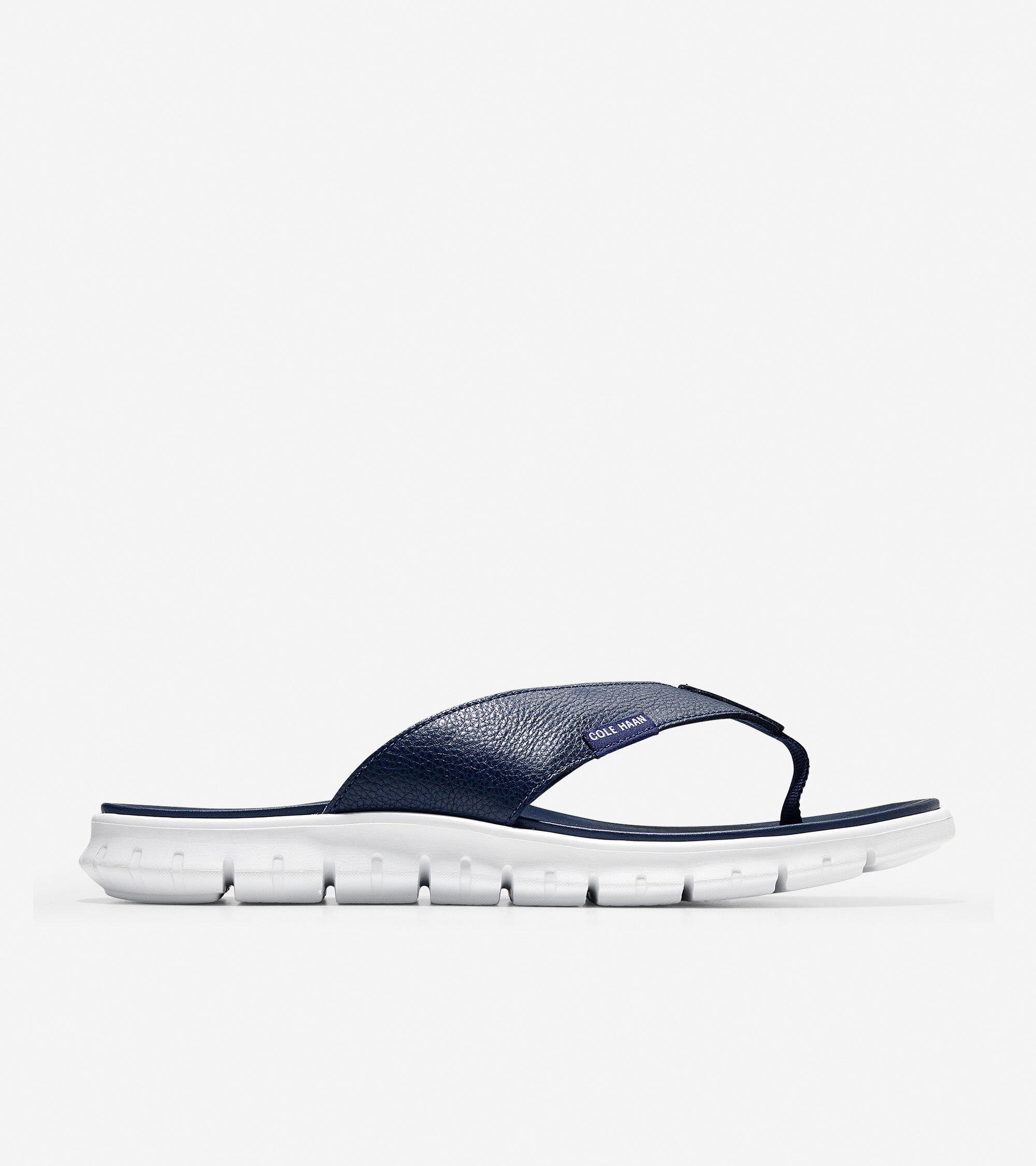 Thong Sandal in Marine Blue Leather