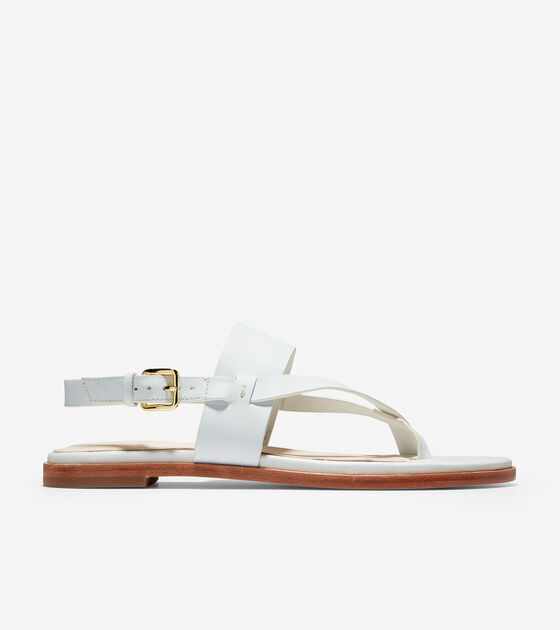 2d4f3fb95 Women s Anica Thong Sandals in White Leather