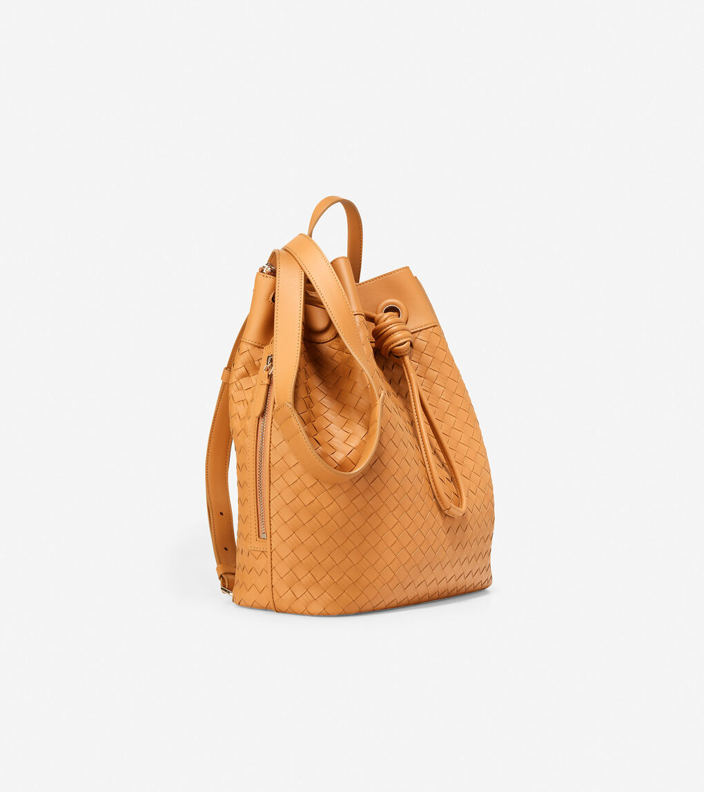 WOMENS Woven Drawstring Backpack