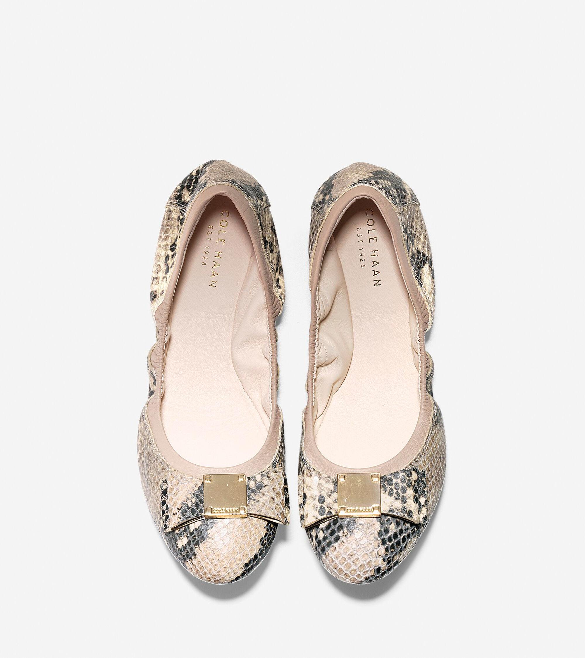 906531b9369 Women s Tali Bow Ballet Flats in Roccia Snake Print