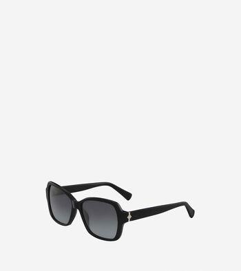 Acetate Modified Rectangle Sunglasses