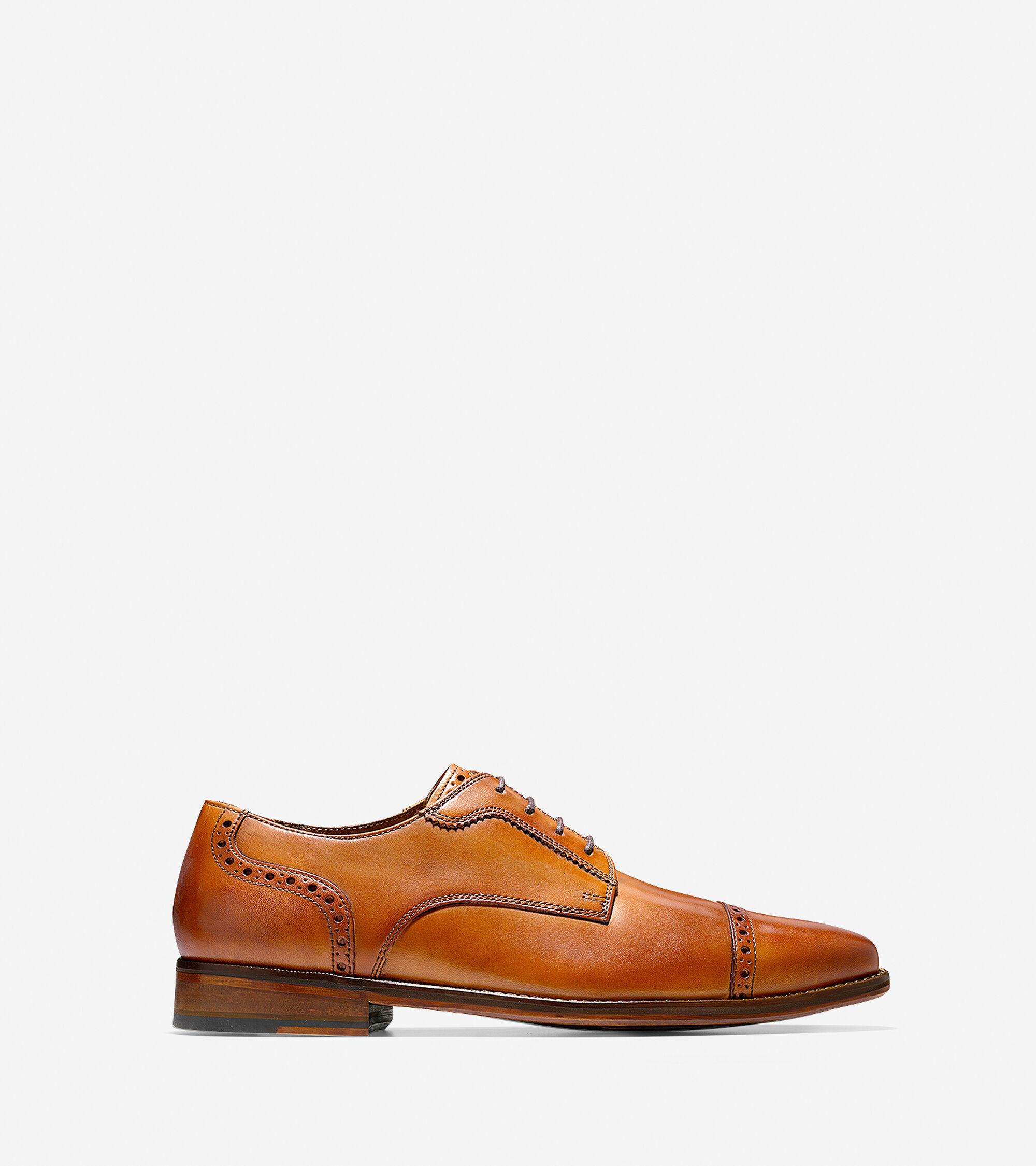 7143a979756 Men s Giraldo Luxe Cap Oxfords in British Tan   Sale