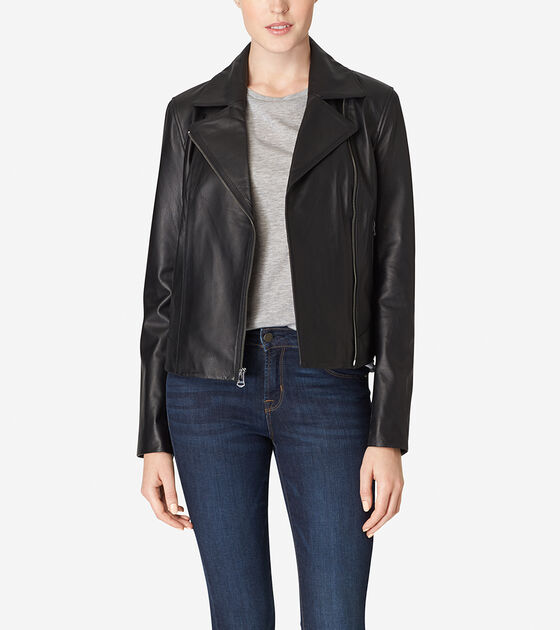 Accessories & Outerwear > Italian Leather Motorcycle Jacket