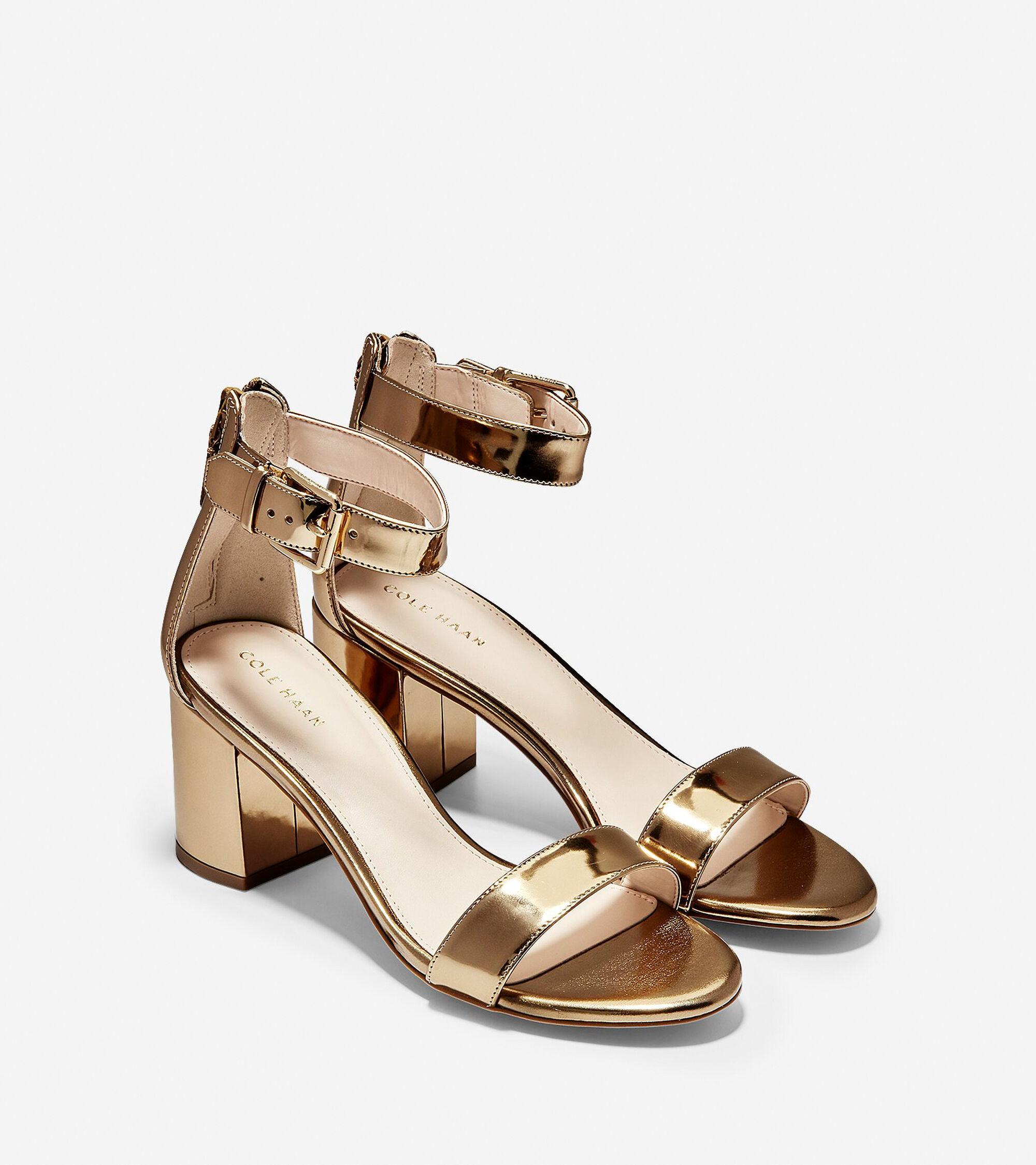 4801801ed4e9 Women s Clarette Sandals 65mm in Gold Specchio