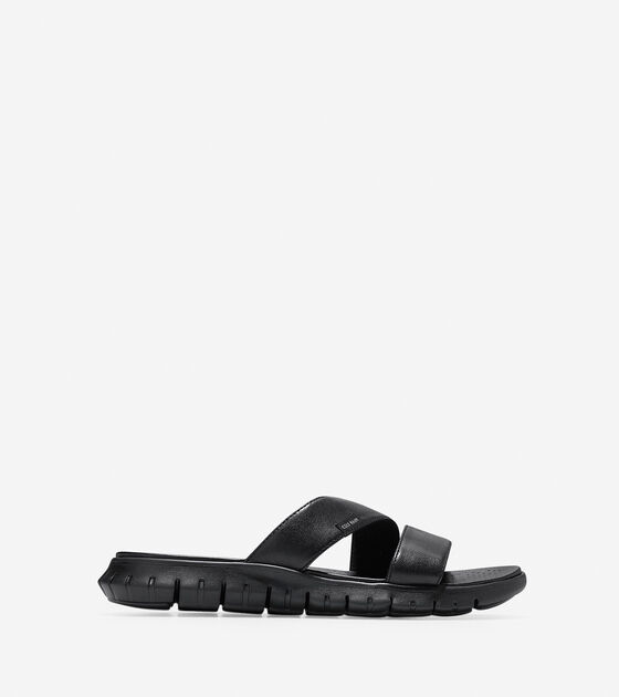 6aef29f5a ZEROGRAND Two-Strap Sandals in Black Black