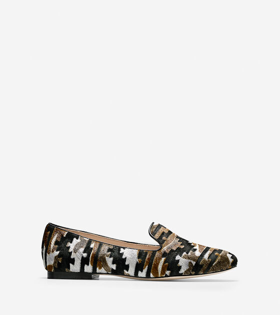 c6afda81c32 Womens Deacon Loafers in Charcoal Multi Haircalf