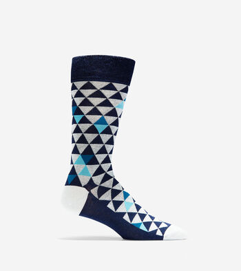 Geometric Triangle Crew Socks