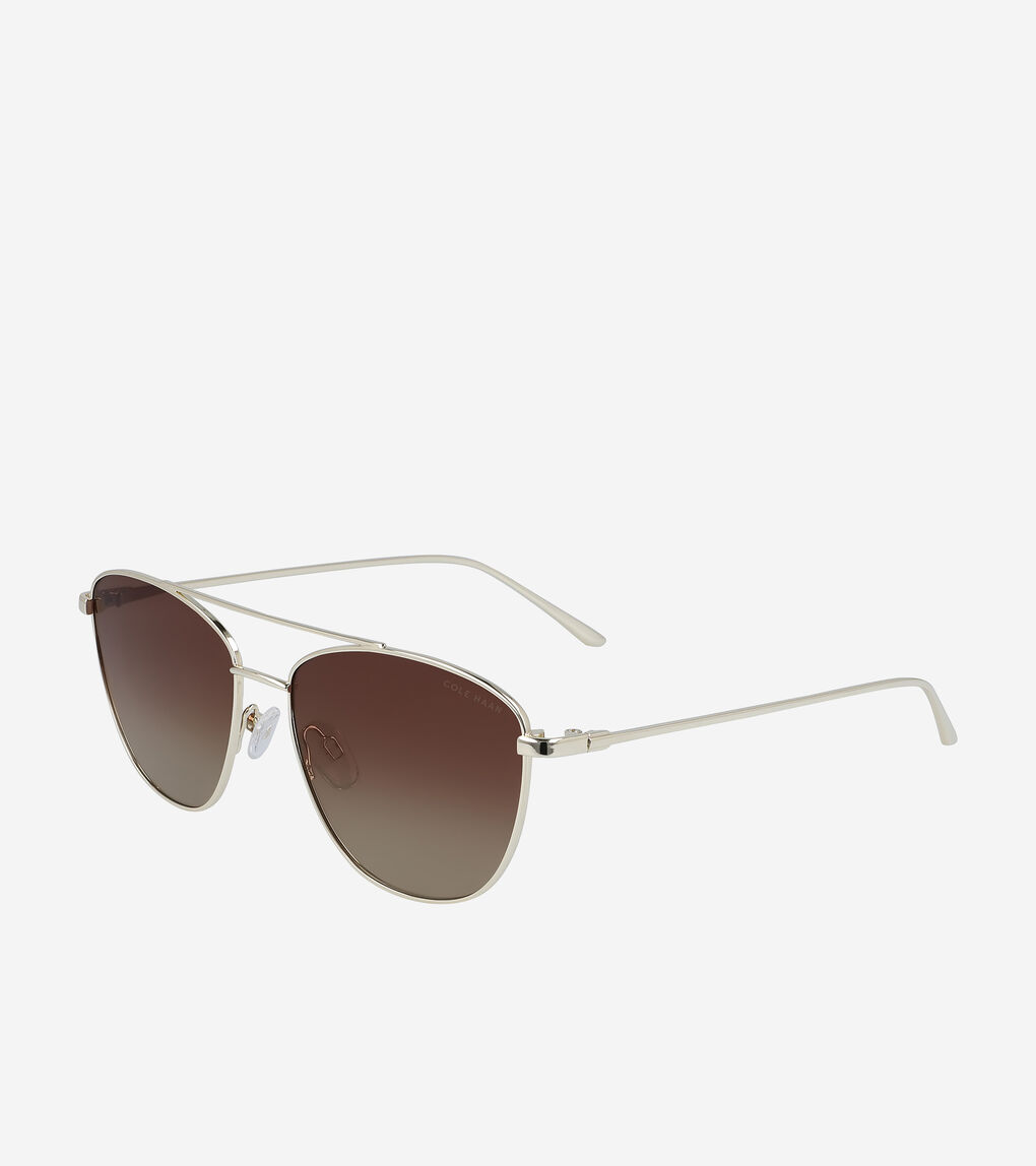 WOMENS Metal Rectangle Sunglasses