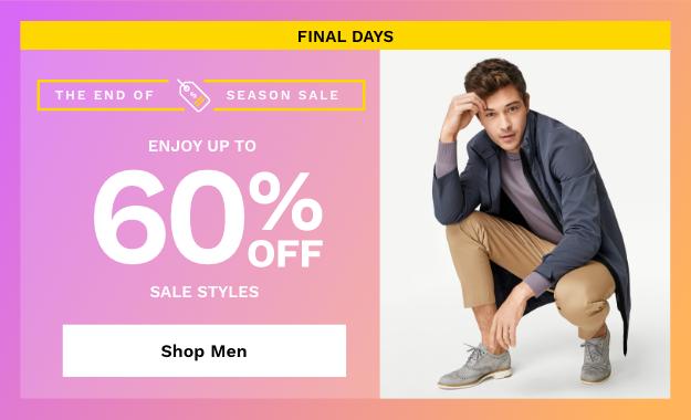 Shop Men's End Of Season Sale.