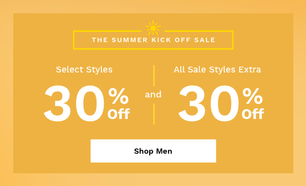 Shop Men's Summer Kick Off Sale.