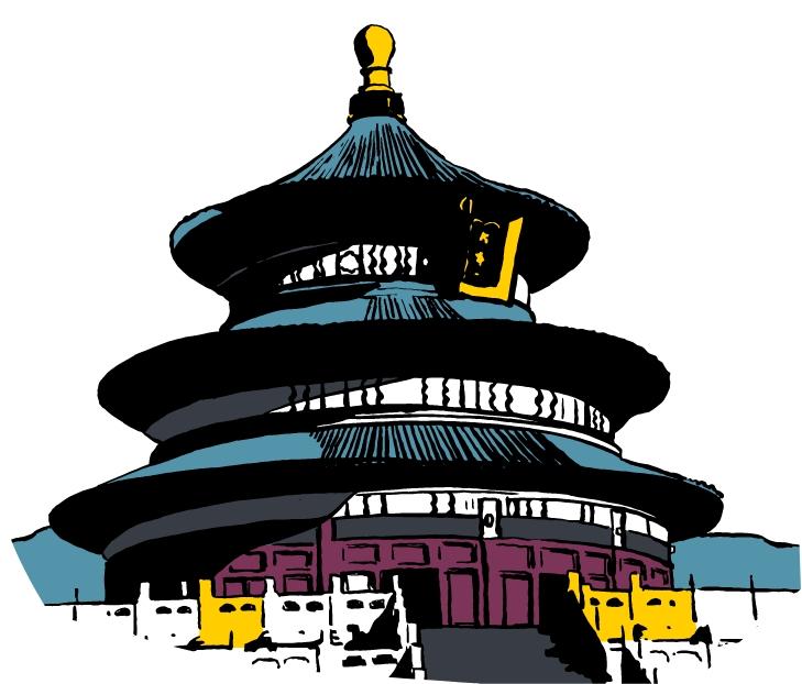 Cole Haan City Guide - Beijing - Illustration - Temple of Heaven