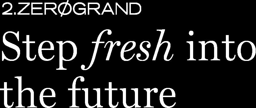 2.ZEROGRAND - STEP FRESH INTO THE FUTURE