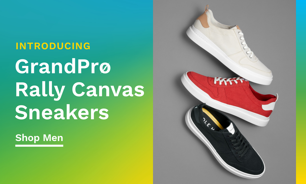 Introducing GrandPrø Rally Canvas Sneakers.