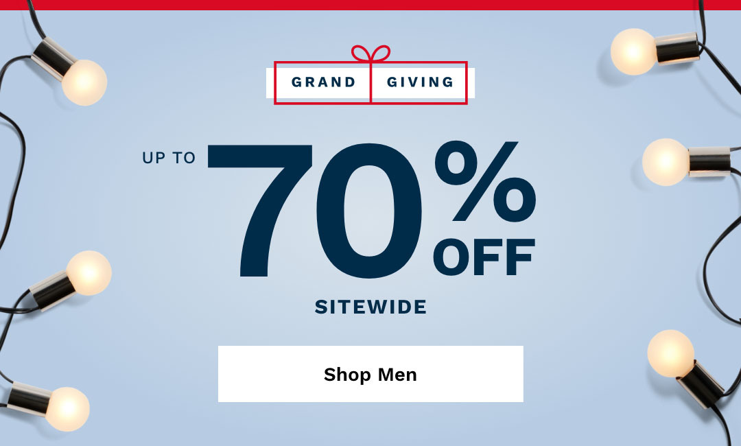 Shop Men's Up To 70% Off Sitewide.