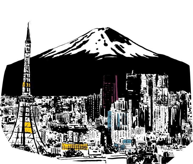 Cole Haan City Guide - Tokyo - Illustration - Mount Fuji
