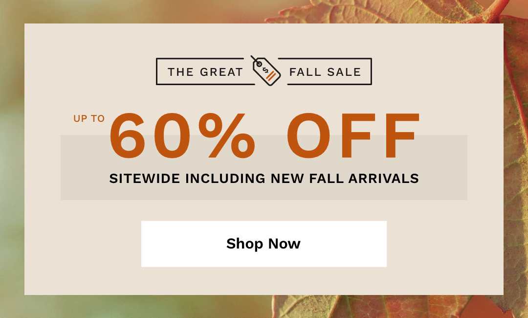 The Great Fall Sale.
