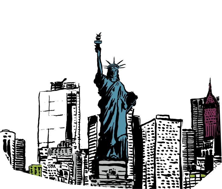 Cole Haan City Guide - New York - Illustration - Statue of Liberty