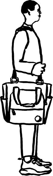 Cole Haan City Guide - Dubai - Illustration - Man with bag