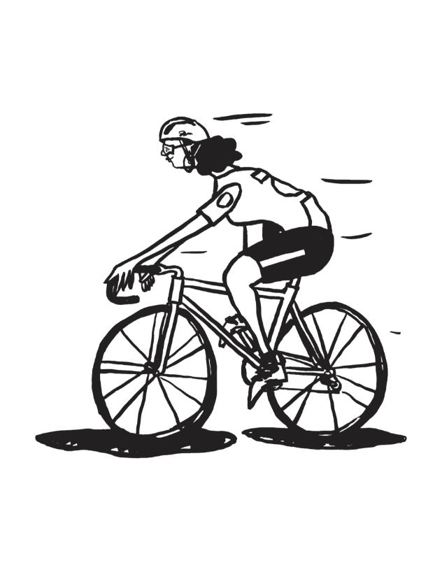 Cole Haan City Guide - London - Illustration - woman on bike